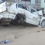 מונית לאחר תאונה לפירוק