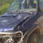 מכונית לאחר תאונה מועברת לפירוק