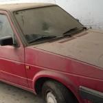 רכב אדום לפירוק