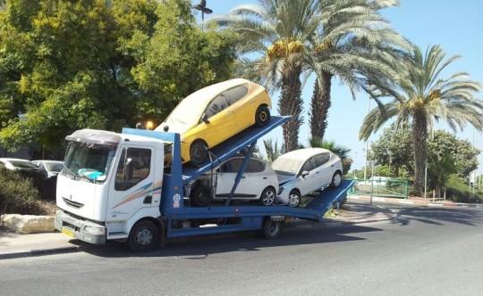 הורדת רכב מהכביש המיועד לפירוק