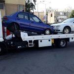 גרירה של 2 כלי רכב בתל אביב לפירוק